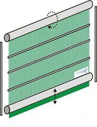 windschutz rolltor mit stabilisierungsprofilen. Black Bedroom Furniture Sets. Home Design Ideas