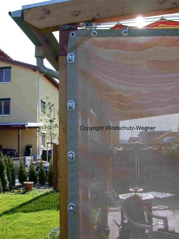 vorhang windschutz terrasse. Black Bedroom Furniture Sets. Home Design Ideas
