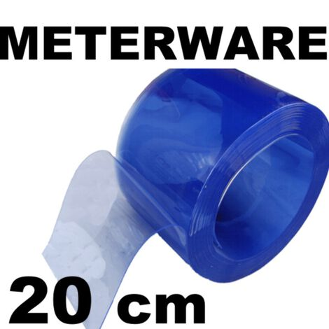 PVC-Lamelle, transparent, Meterware 20 cm 4 mm