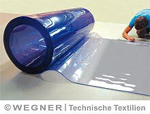 PVC-Plattenware, blautransparent 1,2 m, 5 mm