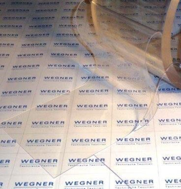 PVC-Lamelle, transparent (helltransp.), 20 cm, 2 mm, Rolle 50 m