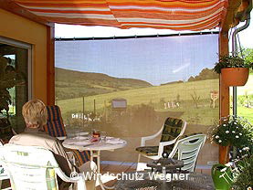 windschutznetze im privatbereich. Black Bedroom Furniture Sets. Home Design Ideas