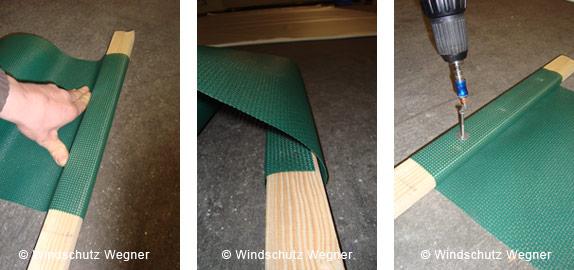 verarbeitung von windschutznetzen. Black Bedroom Furniture Sets. Home Design Ideas